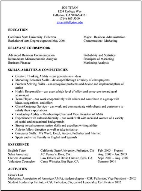 Resume Preparation Format by Resume Preparation Tips Formats And Types For