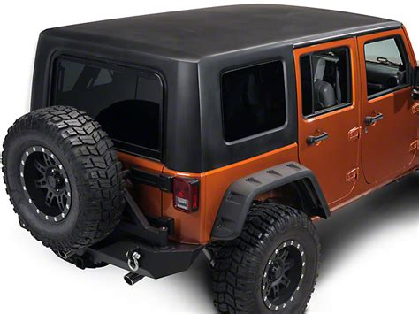 rally jeep wrangler rally tops wrangler 1 piece hardtop black jk4dr2 07 18