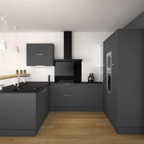 cuisine grise plan de travail noir cuisine avec plan de travail noir quel plan de travail
