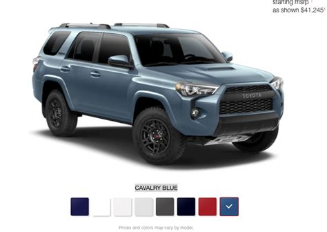 toyota usa website 2018 4 runners are on the toyota usa website including