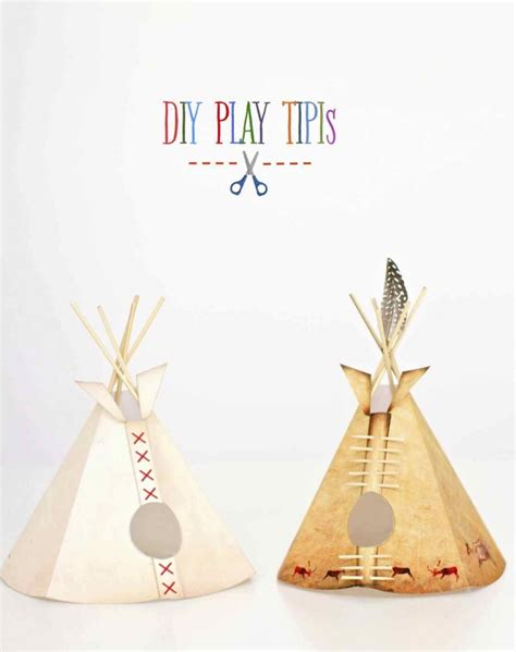How To Make Paper Teepees - a paper reservation