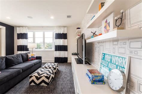 black and white wallpaper for living room 5 tips for family friendly room design decorilla