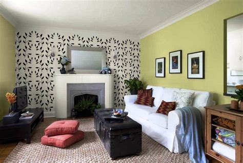 wallpaper dinding oren ツ 20 contoh desain wallpaper dinding ruang tamu minimalis