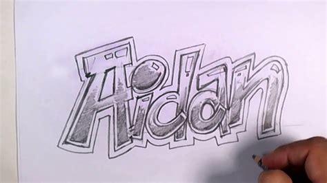 graffiti writing aidan  design    names
