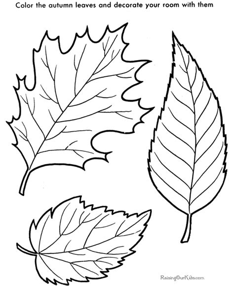leaf color page coloring home
