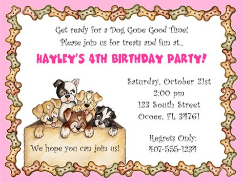 Free Dog Themed Birthday Party Invitations Template Free Invitation Templates Drevio Puppy Invitation Template