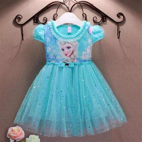 girl dresses summer brand baby kid clothes princess anna