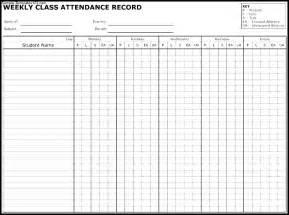 employee attendance record template attendance record template sle templates