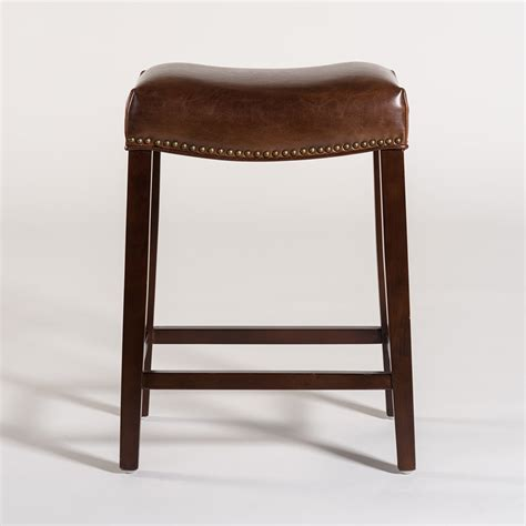 Brown Saddle Bar Stools by Saddle Bar Stool Alder Tweed Furniture