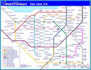 san jose lights map san jose metro map map travel holidaymapq