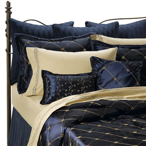 Navy And Gold Bedding by In Out Of Studio 3d