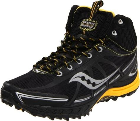 high top trail running shoes saucony mens progrid outlaw trail running shoe in black