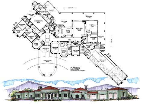 6000 square foot house plans 6000 square feet and higher