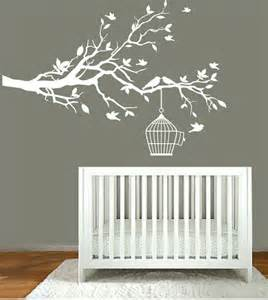 White Tree Wall Decal For Nursery Vinyl Wall Decals Nursery White Tree Branch Nursery Wall