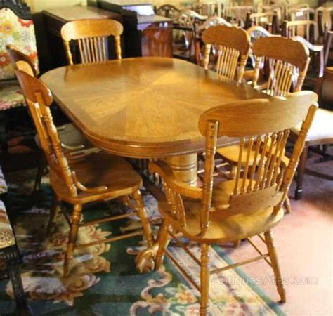 Non Matching Dining Room Chairs Large Golden Oak Dining Table 6 Matching Chairs