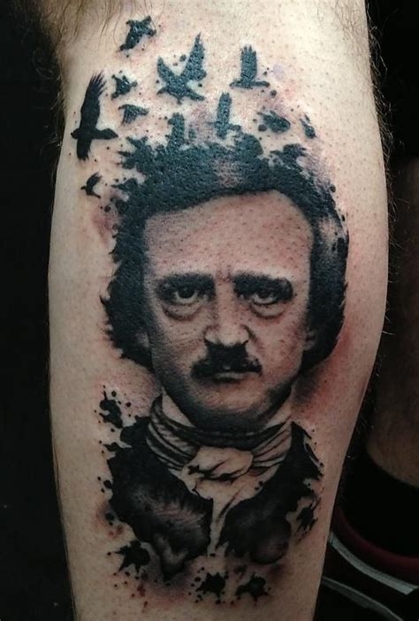 edgar allan poe tattoos edgar allan poe portrait by