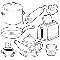 toy kitchen coloring page more food 187 coloring pages 187 surfnetkids