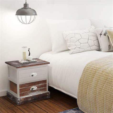 vidaxl co uk vidaxl shabby chic bedside cabinet brown