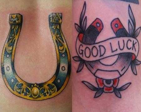 good luck tattoo designs shoe tattoos ideas designs meaning