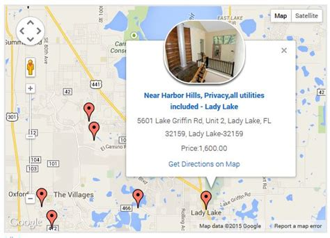 map of homes for sale in the villages florida