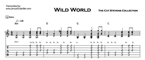 tutorial guitar wild world cat stevens wild world jerry s guitar bar