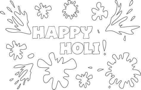 Holi Coloring Pages free child holi coloring pages
