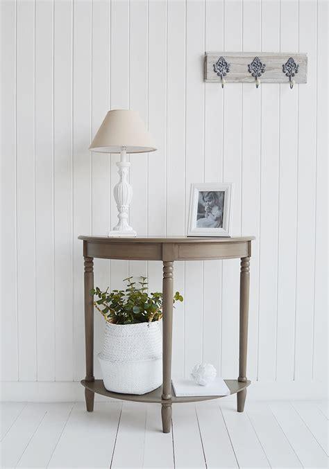 newport french grey console narrow hall table cm deep