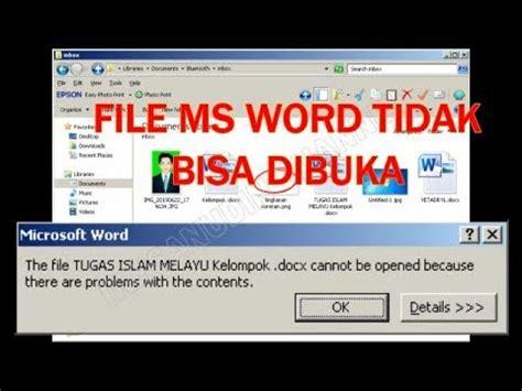 membuka file ms word  tidak bisa dibuka youtube