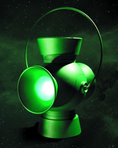 green lantern power ring previewsworld green lantern 1 1 scale power battery prop