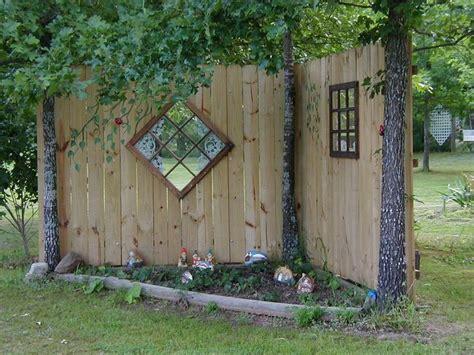 backyard fence decor back yard fence decor for studio garden pinterest