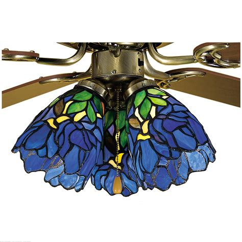 meyda 5 quot w iris fan light shade ceiling fixture 27483
