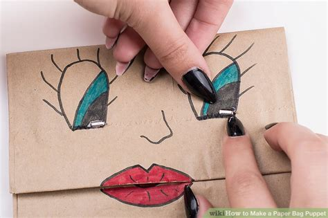 Make Paper Puppets - 3 ways to make a paper bag puppet wikihow