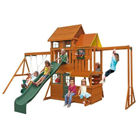 cedar summit barrington playset f23315 the home depot
