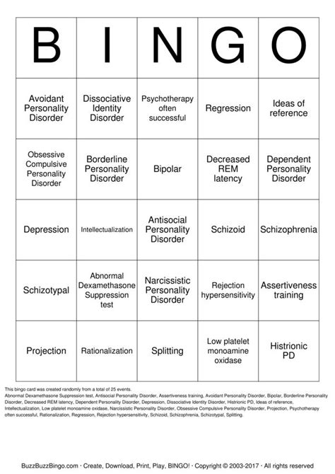 printable bipolar questionnaire mania bingo cards to download print and customize