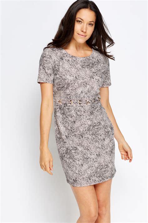 light pink metallic dress metallic waist bodycon dress light pink black just 163 5
