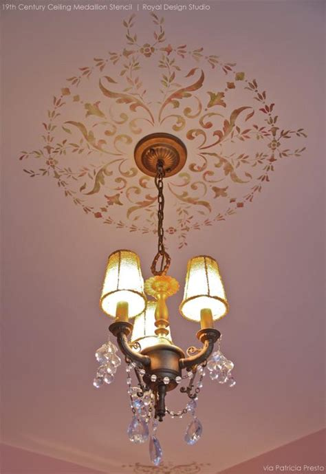 ceiling stencil ideas for beautiful home decor for the