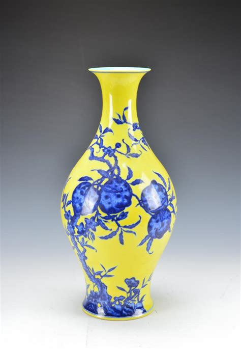 Blue And Yellow Vase Yellow And Blue Vase