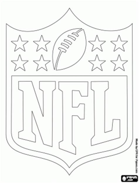Nfl Logo Coloring Pages logo of the nfl national football league coloring page arts