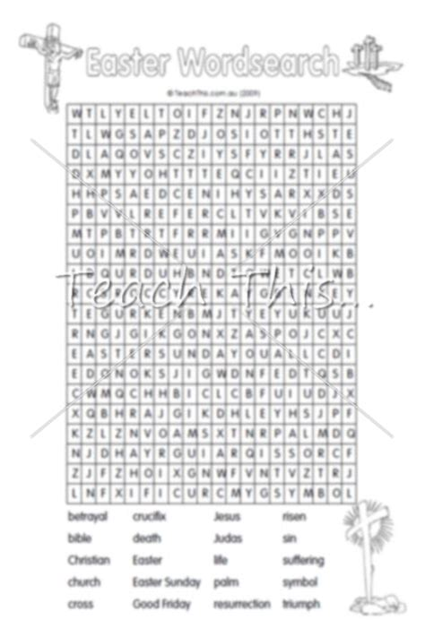 printable christian easter activity sheets wordsearch christian easter teacher resources