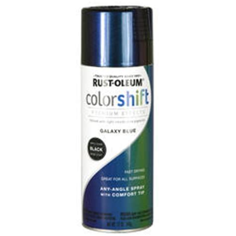 rust oleum 174 specialty color shift galaxy blue spray paint 12 oz at menards 174