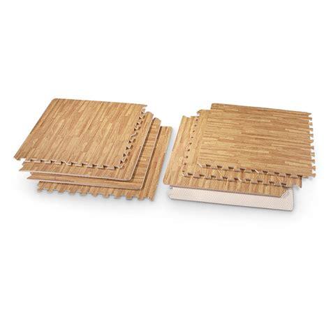 8 pc wood grain foam mats wood grain print 578642