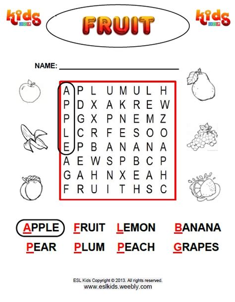 Fruit   Activities, Games, and Worksheets for kids