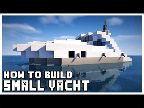 how to make a yacht in minecraft pe minecraft how to make small yacht doovi