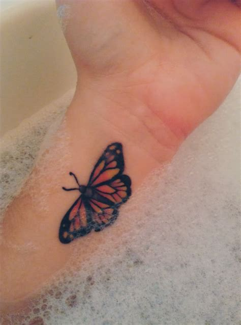 butterfly tattoo designs on wrist watercolor butterfly on wrist
