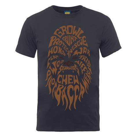 wars shirts wars s chewbacca text t shirt charcoal iwoot
