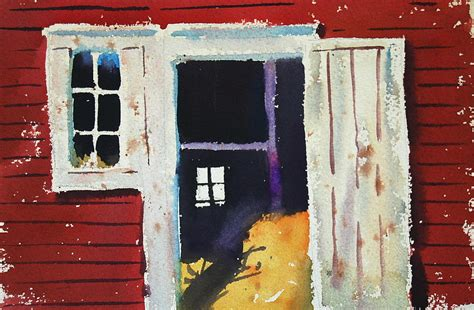 libro open the barn door open barn door painting by len stomski