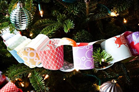 christmas tree paper chain garland the sweetest occasion