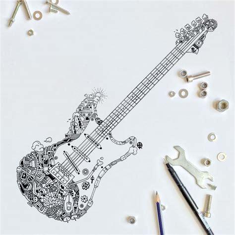 doodles with pen black pen doodles with steunk twist