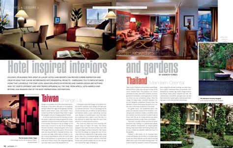 design magazine thailand hotel inspired interiors and gardens home lifestyle