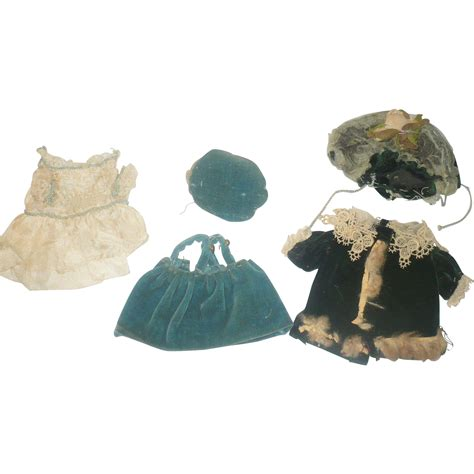 bisque doll clothes 5piece doll clothing for german all bisque doll velvet